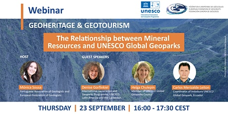 Webinar - Relationship between Mineral Resources and UNESCO Global Geoparks tickets