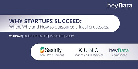 WHY STARTUPS SUCCEED: When, Why and How to outsource critical processes? tickets