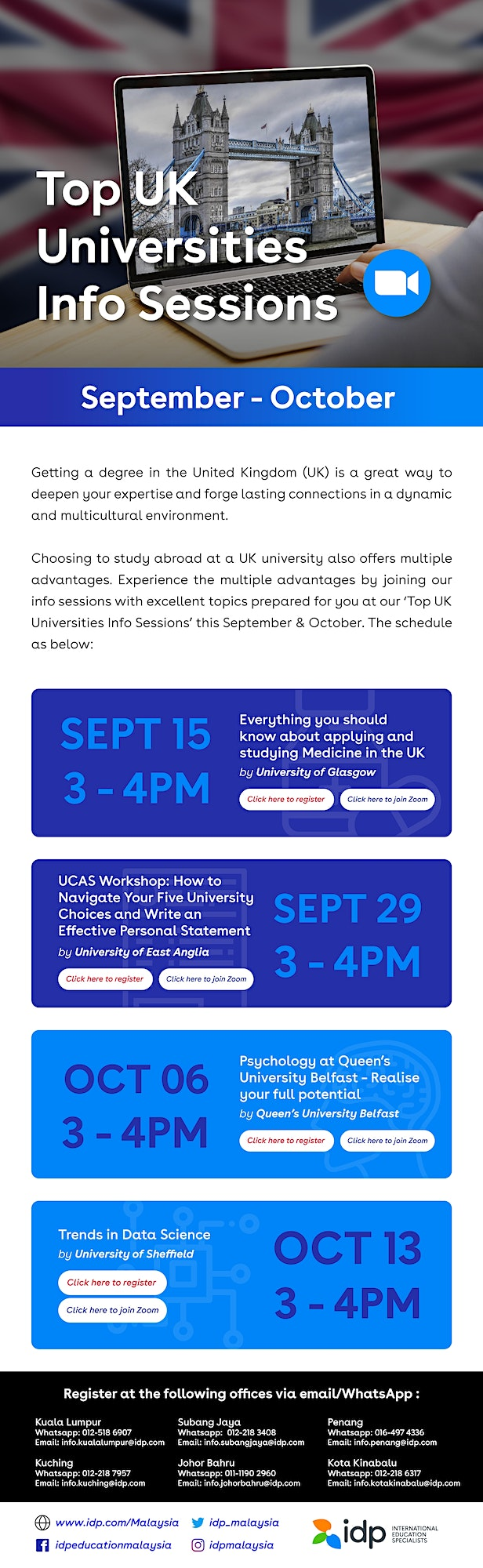 IDP Info Session with University of East Anglia : UCAS Workshop image