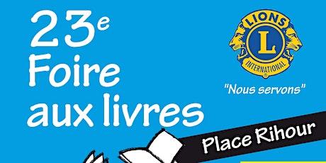 23ème FOIRE AUX LIVRES - REPORTEE tickets