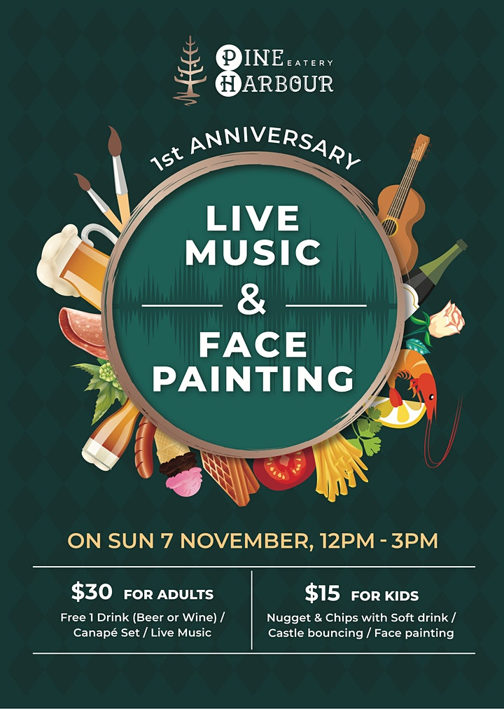 Live Music & Face Painting- Pine Harbour Eatery image