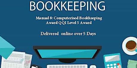 Manual & Computerised Bookkeeping Award QQI Level 5 tickets