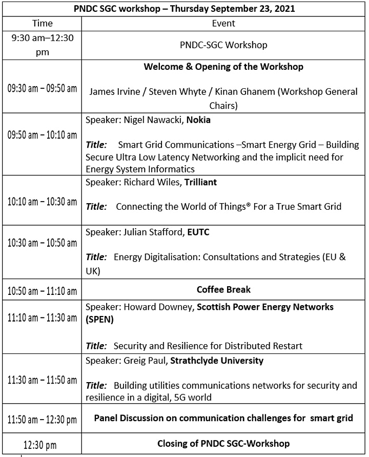 IEEE Smartnets 2021 - PNDC Workshop image