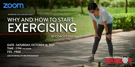 Warrior Live Online Talk: Why and How to Start Exercising tickets
