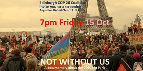 """FILM: """"Not Without Us"""" 7 activists' take on Paris Agreement 7pm Fri 15 Oct tickets"""