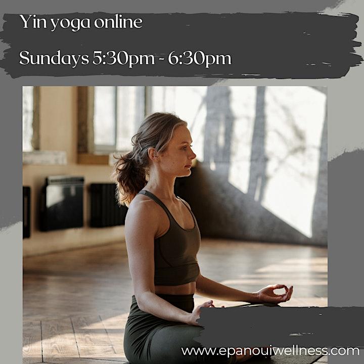 Hot Yin Yoga & Meditation - Sundays image