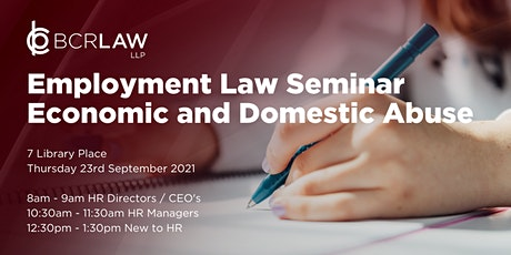 Economic and Domestic Abuse Employment Law Seminar for those new to HR tickets