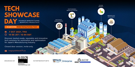 Tech Showcase Day (Japan): Advanced Manufacturing + Workplace Productivity tickets