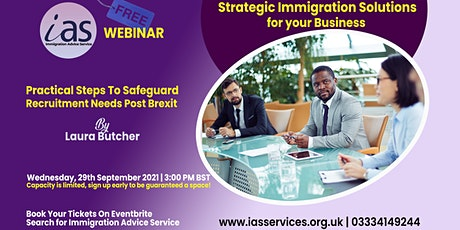 Strategic Immigration Solutions for your Business tickets