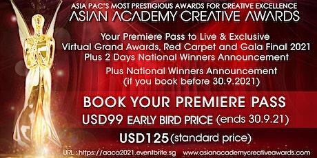 Asian Academy Creative Awards 2021 (29 Nov - 3rd Dec) entradas