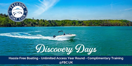 Freedom Boat Club - Discovery Days tickets