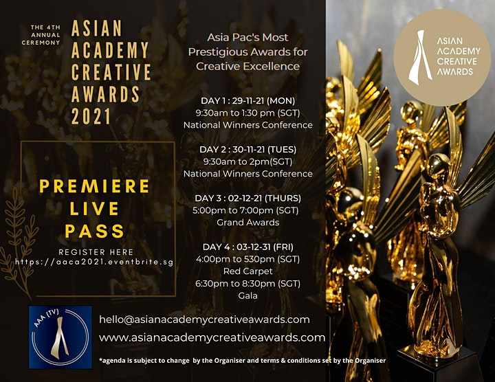 Asian Academy Creative Awards 2021 (29 Nov - 3rd Dec) image
