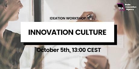 Online Ideation Workshop — Innovation Culture tickets