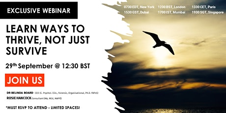 Positive Resilience Webinar: LEARN WAYS TO THRIVE, NOT JUST SURVIVE tickets