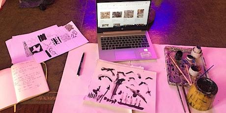 Art, Print and Wellbeing Online Workshop tickets