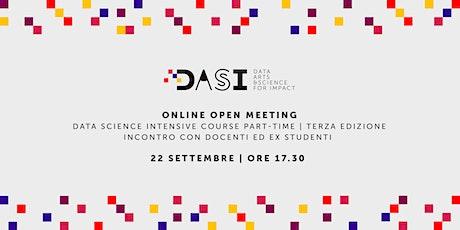 Presentazione della terza edizione del corso part-time in Data Science biglietti