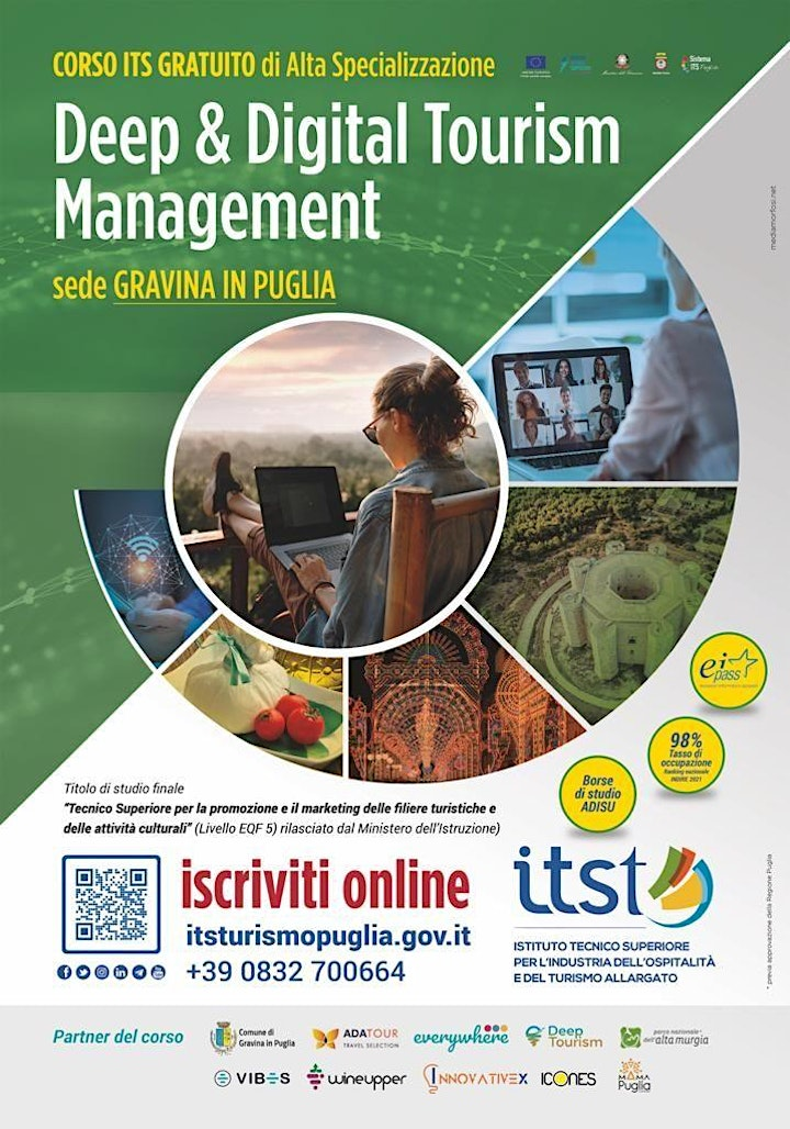 """""""Deep & Digital Tourism Management"""" - Open Day a Spinazzola image"""