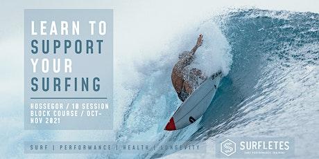 SURF PERFORMANCE COURSE 10-SESSION BLOCK HOSSEGOR (OCT-NOV 21) billets