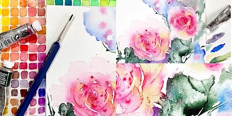 Loose Atmospheric Rose Watercolour Workshop tickets