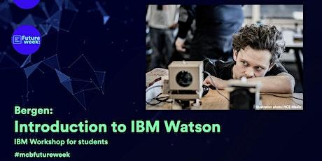 Workshop: Introduction to IBM Watson tickets