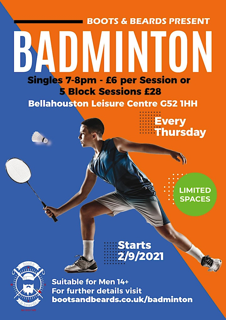 Badminton at Bellahouston with Boots & Beards image