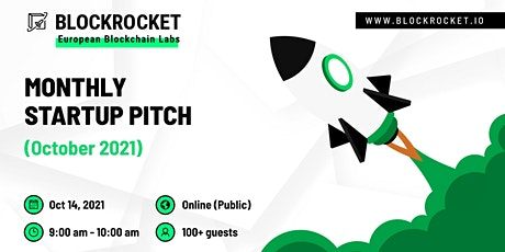 BLOCKROCKET's Monthly Startup Pitch: October 2021 tickets