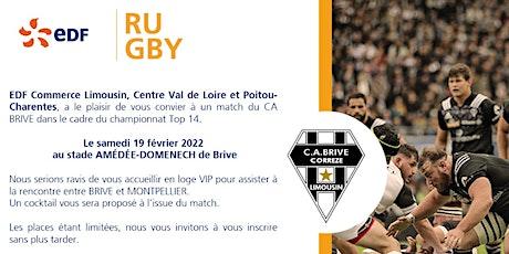 EDF vous invite au Match du C.A BRIVE  le 19 février 2022 (SEE) billets