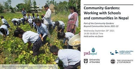 Community Gardens - Working with Schools and communities in Nepal tickets