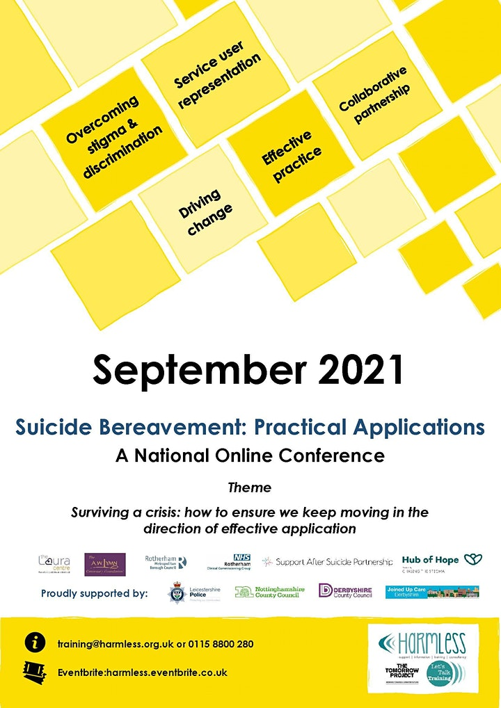 Online Suicide Bereavement Conference: Practical Applications image