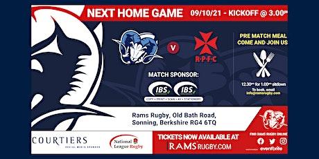 Rams RFC 1st XV vs Rosslyn Park FC tickets