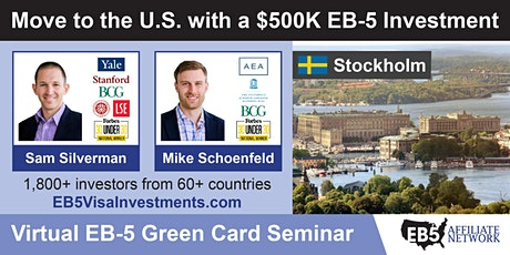 Stockholm EB-5 American Green Card Virtual Seminar tickets