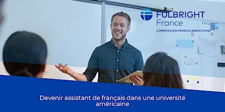 "VISIOCONFERENCE ""PROGRAMME FULBRIGHT ASSISTANT DE FRANCAIS (FLTA) 2021 billets"