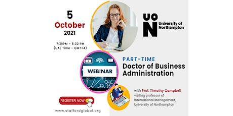 University of Northampton DBA Webinar for Saudi tickets