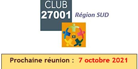 Réunion Club ISO27001 - 7 octobre billets