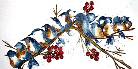 Paint your own Chirstmas cards- watercolor painting workshop tickets
