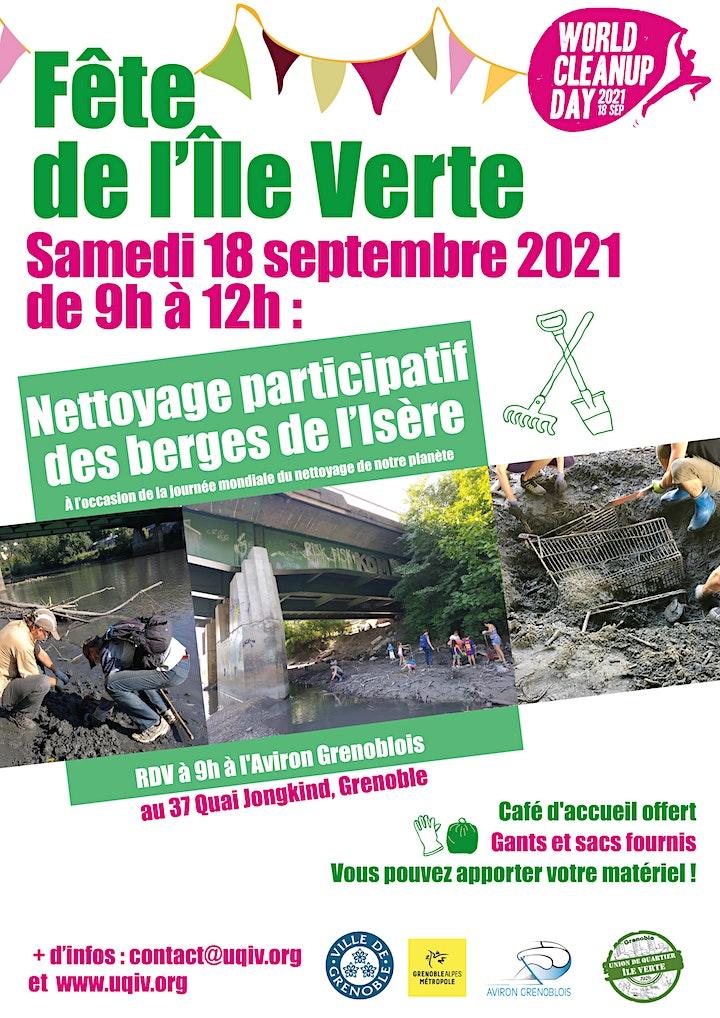 Image pour Nettoyage participatif des berges de l'Isère / Grenoble / Ile Verte