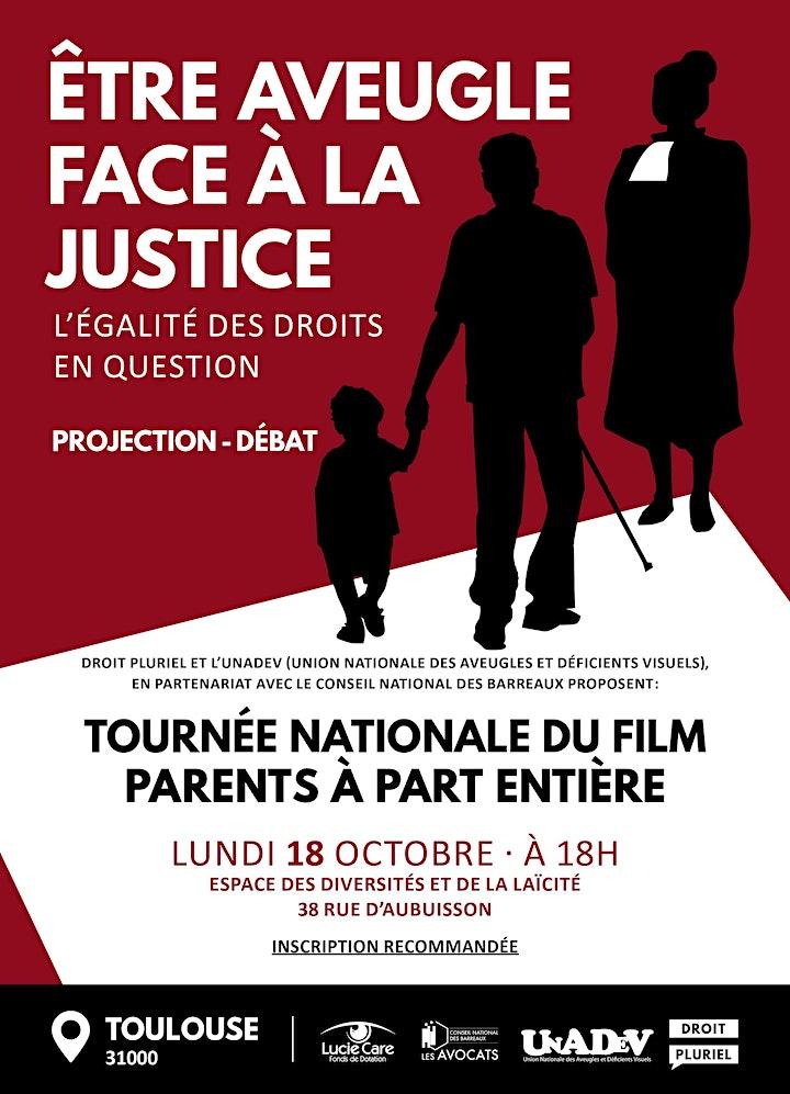 Image pour Soirée débat - Etre aveugle face à la justice ! - Toulouse