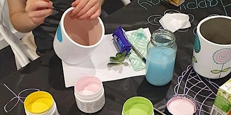 Pots Paint and Popcorn school holiday workshop tickets