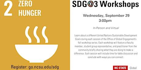 SDG@3 Workshop: Goal 2: Zero Hunger tickets