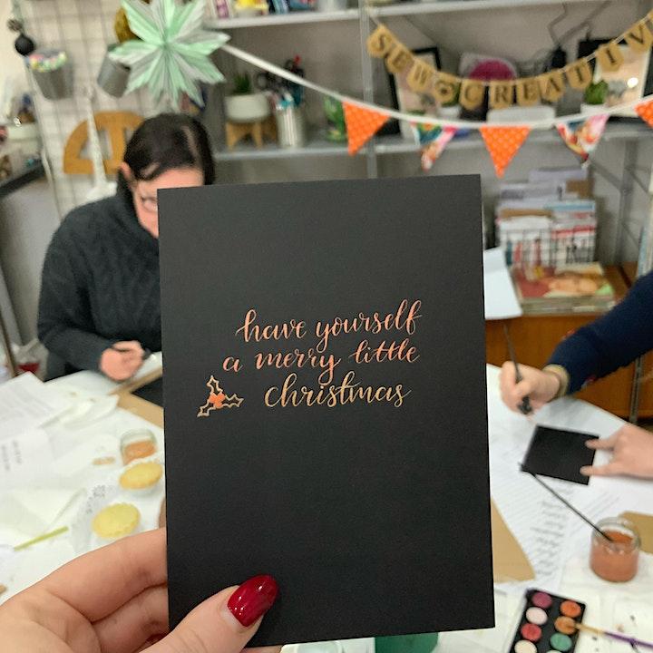 Christmas Modern Calligraphy Beginners Workshop in Battersea image