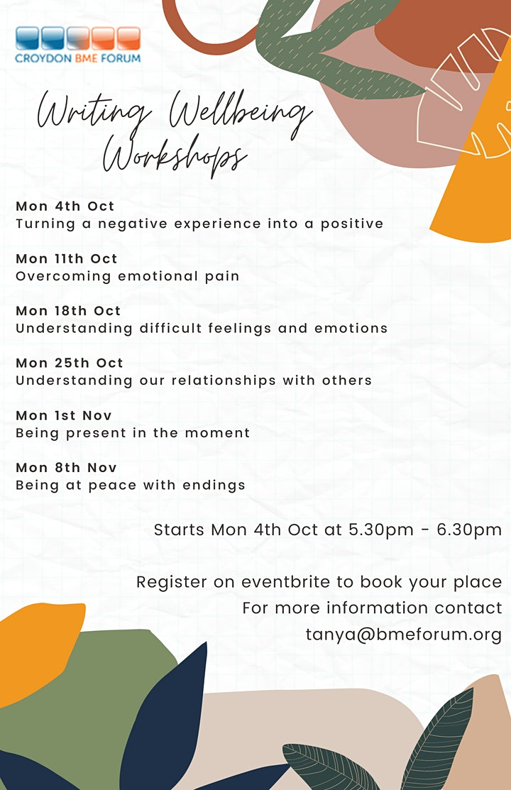 Writing wellbeing workshops - Turning a negative experience into a positive image