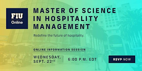 Online Master of Science in Hospitality Management - Info Session Tickets