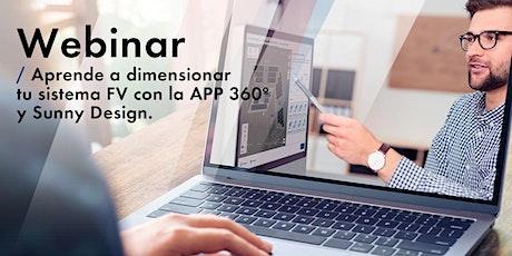 Aprende a dimensionar  tu sistema FV con la APP 360º y Sunny Design entradas
