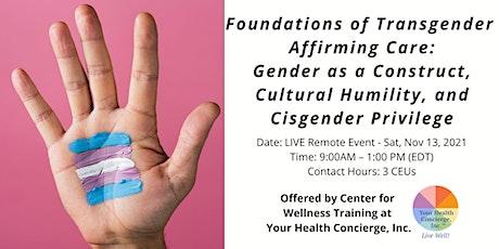 Foundations of Transgender Affirming Care tickets