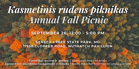 Kasmetinis rudens piknikas   Annual Fall Picnic tickets