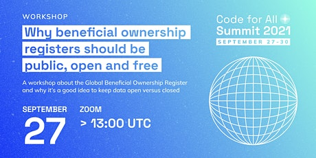 Why beneficial ownership registers should be public, open and free tickets