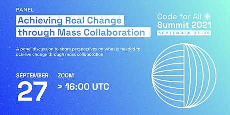 Achieving Real Change through Mass Collaboration tickets