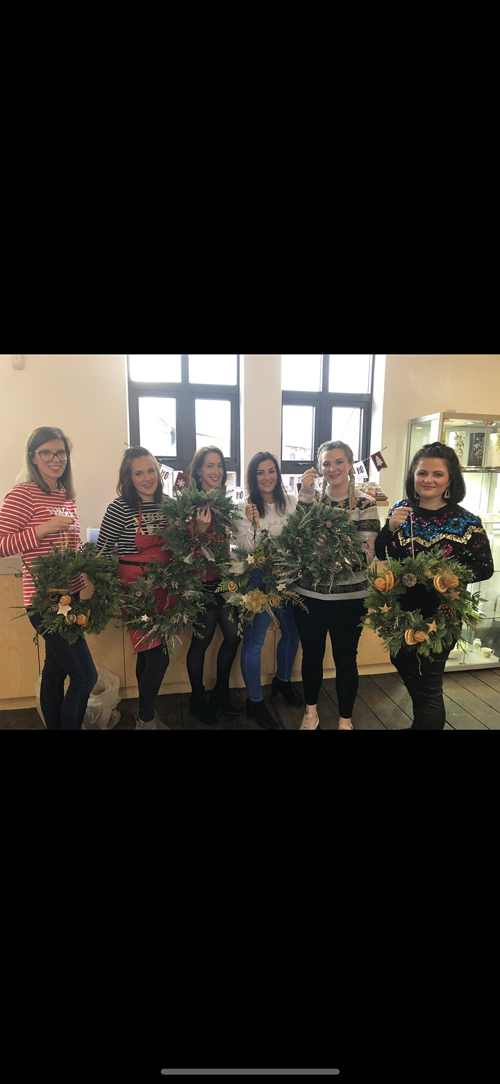 Christmas wreath workshop- Salwarp village hall image