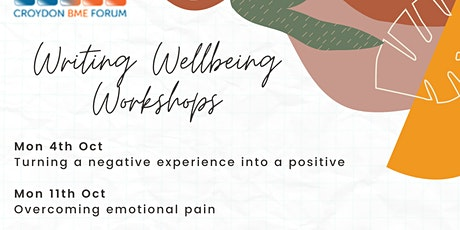 Writing Wellbeing -Overcoming Emotional Pain tickets