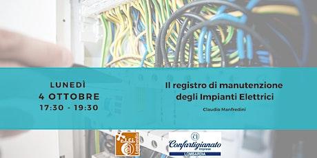 Il registro di manutenzione degli Impianti Elettrici biglietti